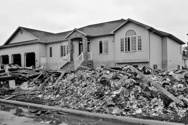 House Damaged During Minot Flood of June-July 2001