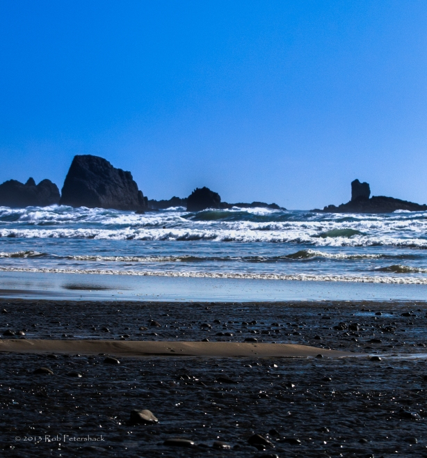 Cannon Beach (with tiny little sand beach) - April 16, 2013