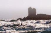 Surfers near Cannon Beach. OR