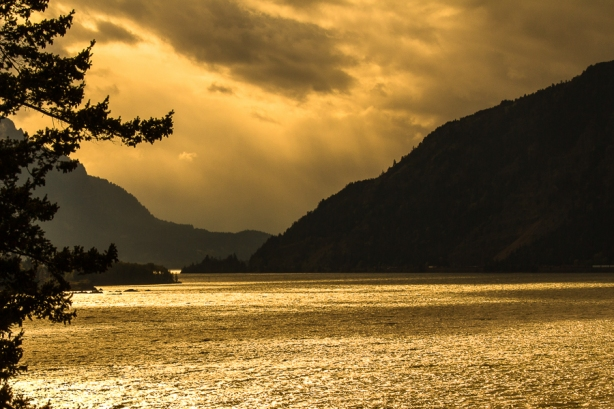 The Columbia River Gorge - Golden Moment