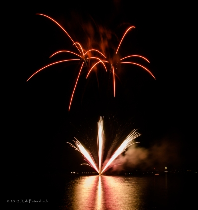 Fireworks on Lake Mendota