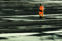 Worker on the Tarmac