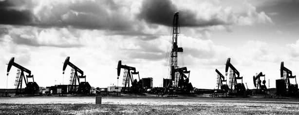 Oil Wells - Bakken Formation, North Dakota, June 2014-Silhouette
